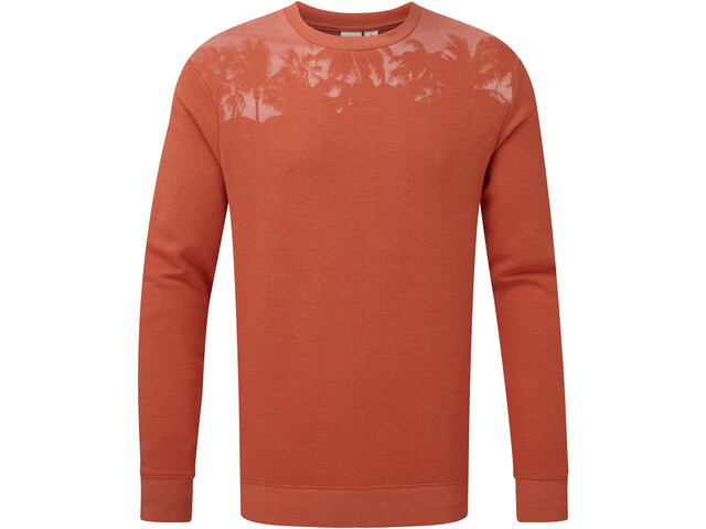 tentree Palm Classic Camiseta Manga Larga Hombre, burnt sienna orange heather